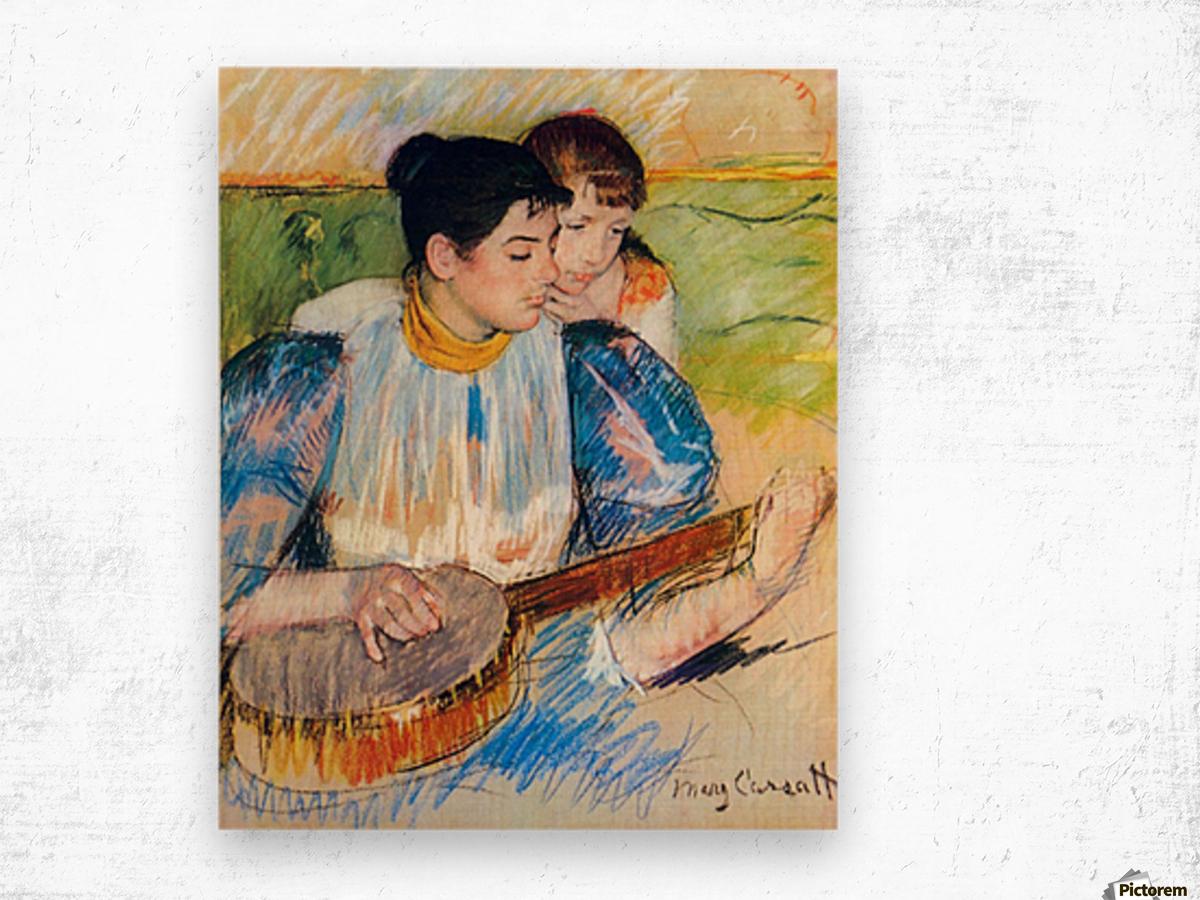 The banjo lesson by Cassatt Wood print