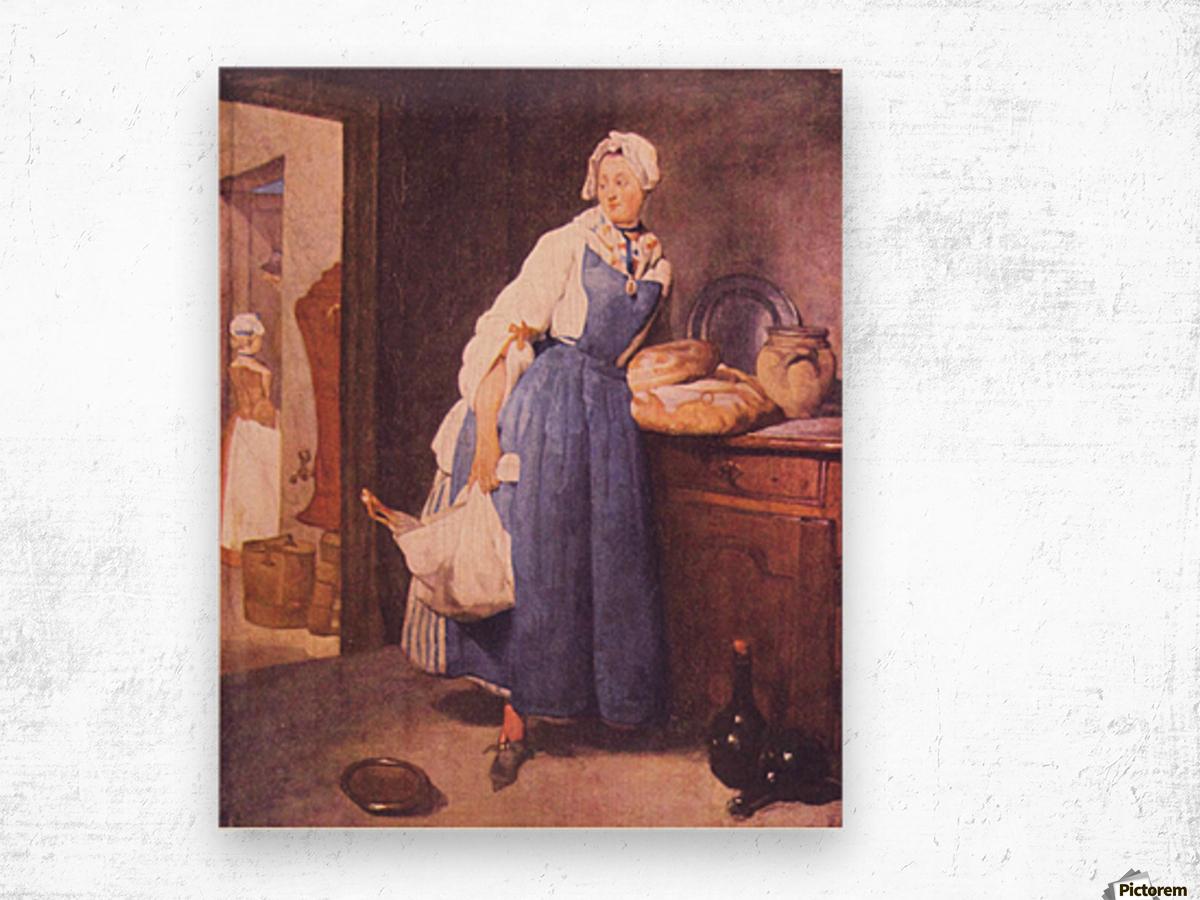 The bread by Jean Chardin Wood print