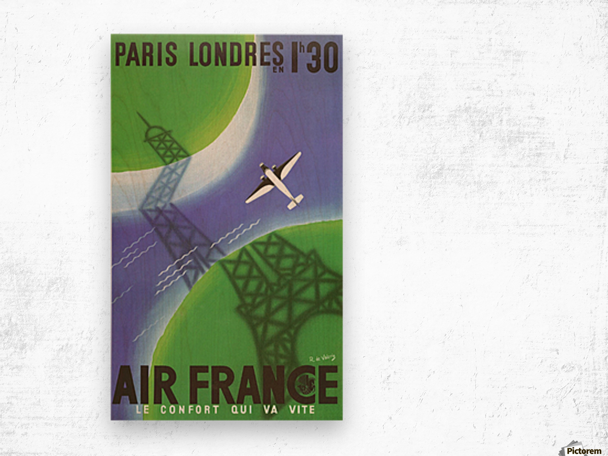 Paris Londer Wood print