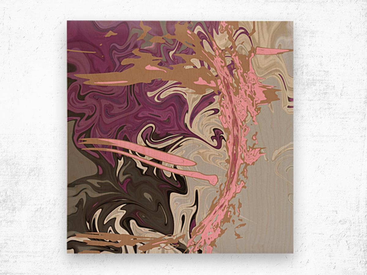 Art Nouveau Pour Wood print