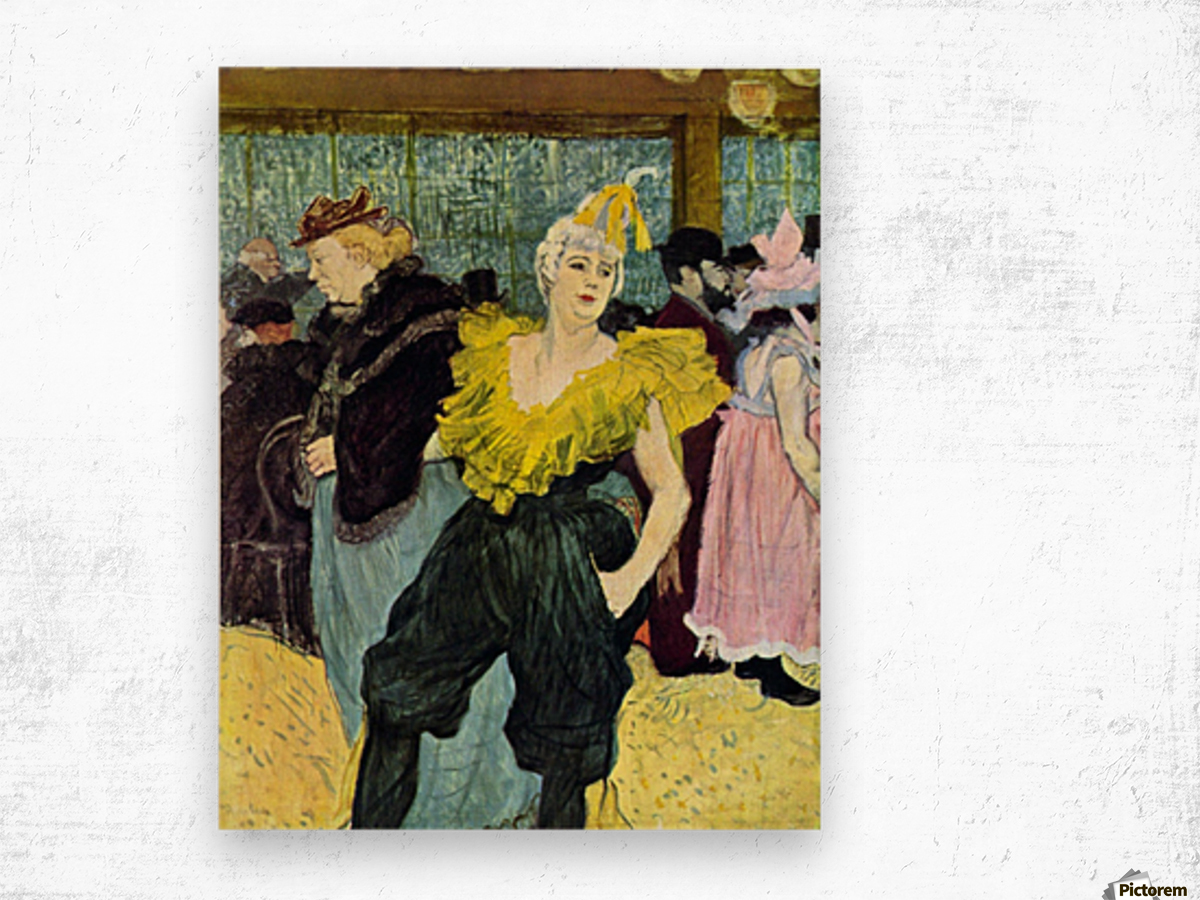 The clowness by Toulouse-Lautrec Wood print