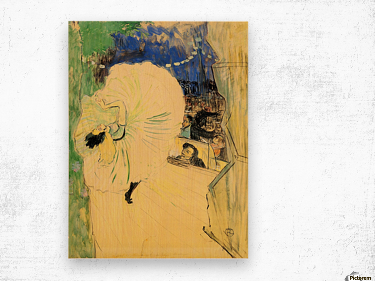 The coil by Toulouse-Lautrec Wood print