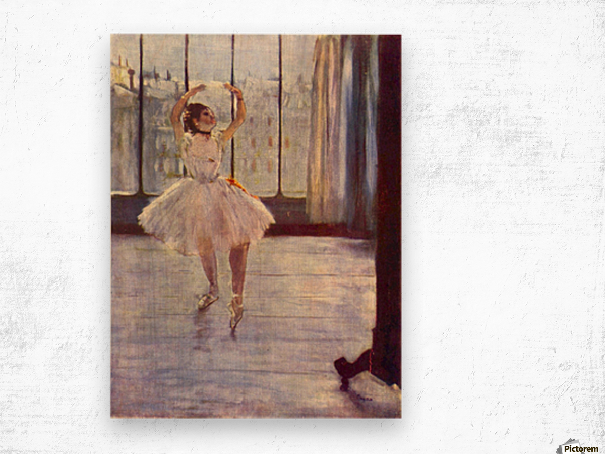 The dancer at the photographer by Degas Wood print