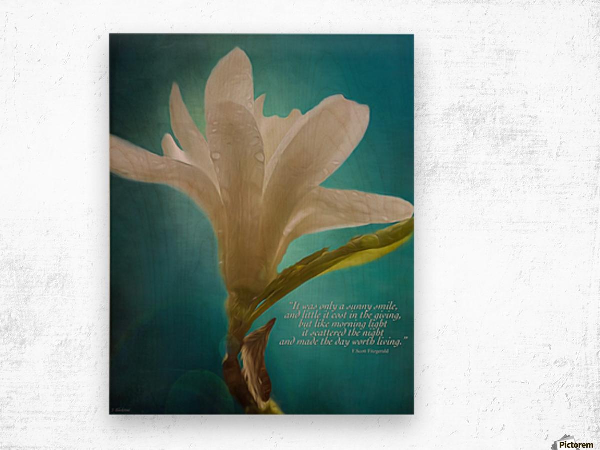 Like Morning Light - Flower Art by Jordan Blackstone Wood print