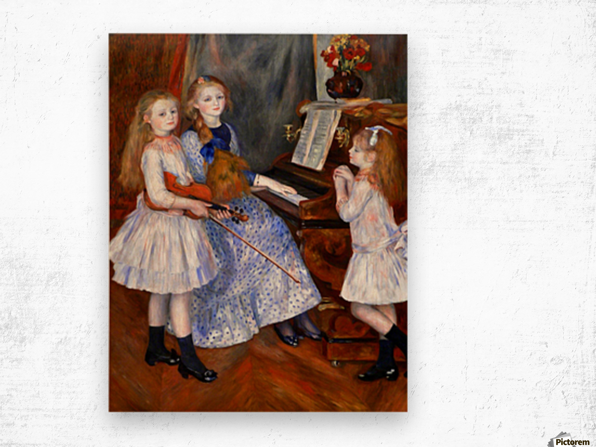 The daughters of Catulle Mendes Wood print