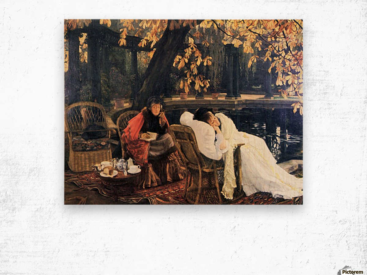 The end by Tissot Wood print