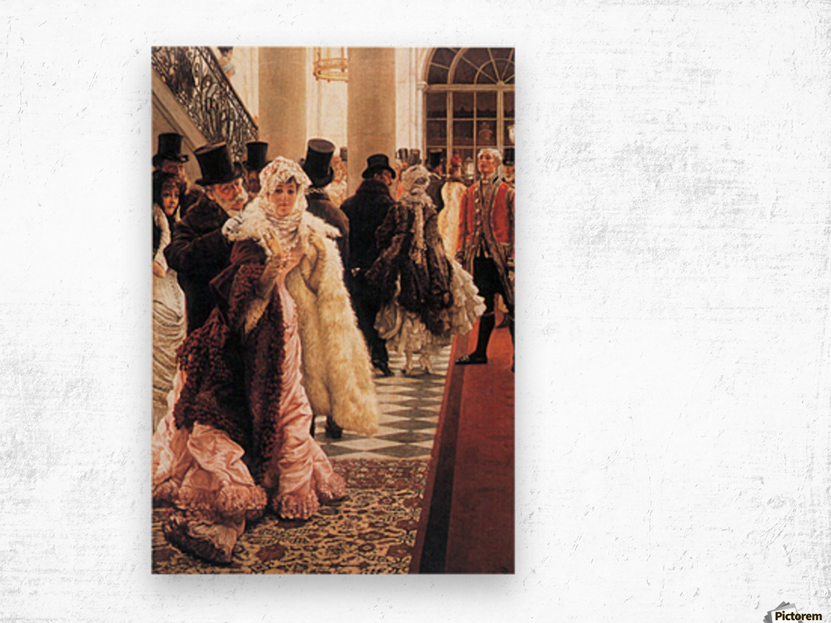 The fashionable woman by Tissot Wood print