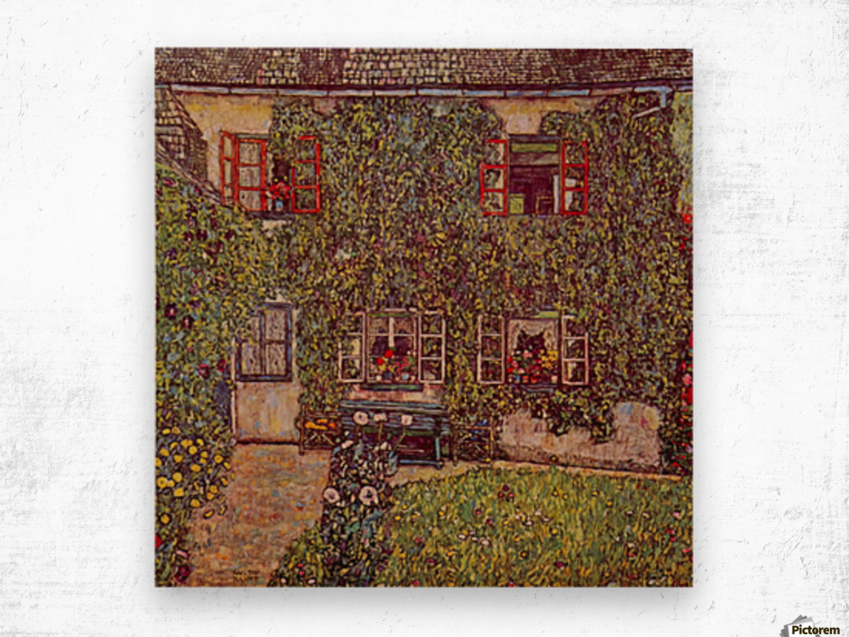 The House of Guard by Klimt Wood print