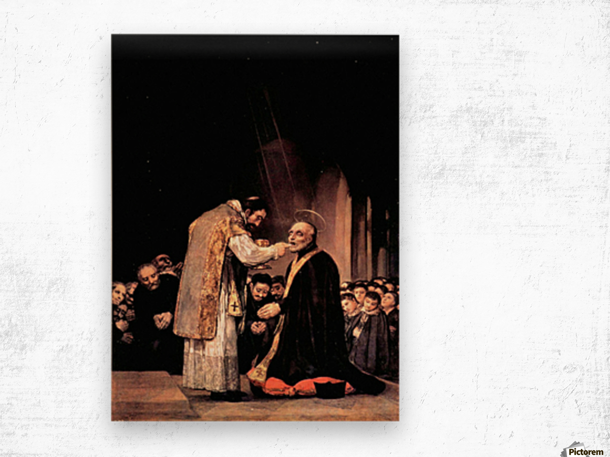 The last communion of St. Joseph of Calasanza by Goya Wood print