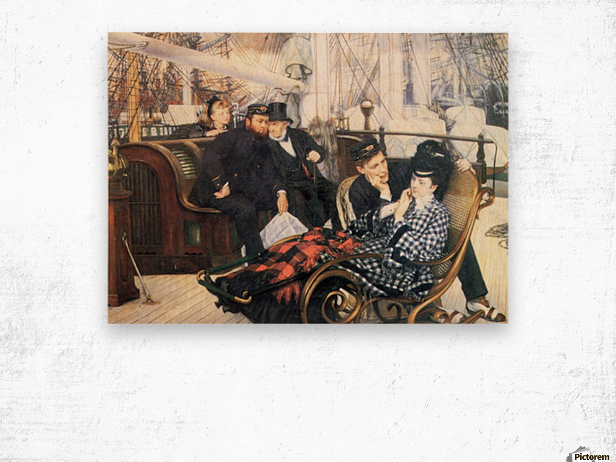 The last evening by Tissot Wood print