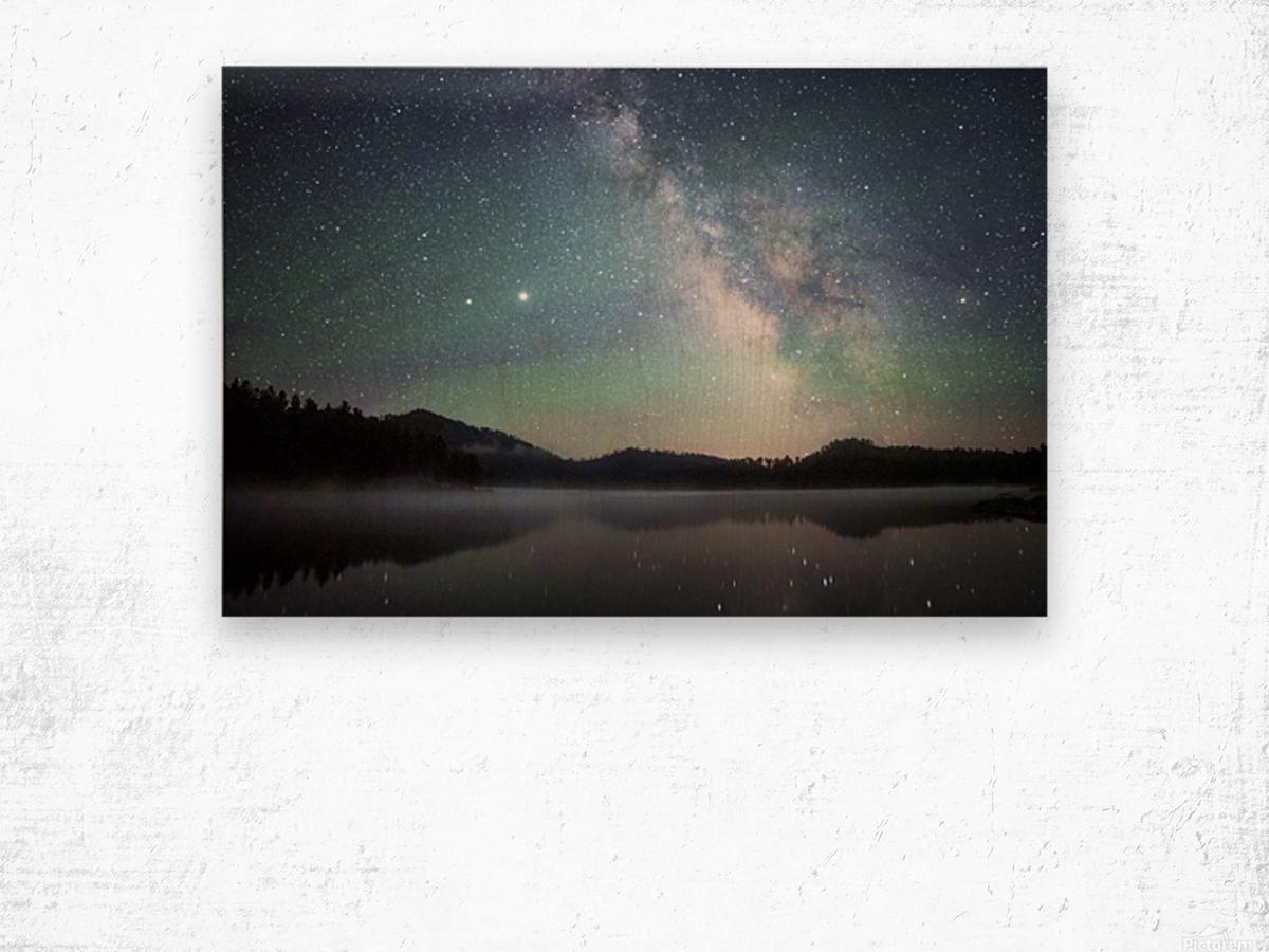 Stockade Lake and The Milky Way Wood print