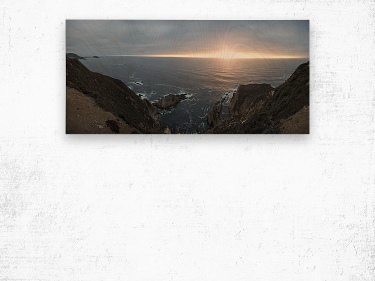 Pacific Coast Sunset Wood print
