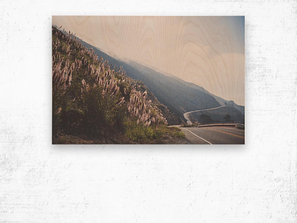 Pacific Coast Highway Wood print