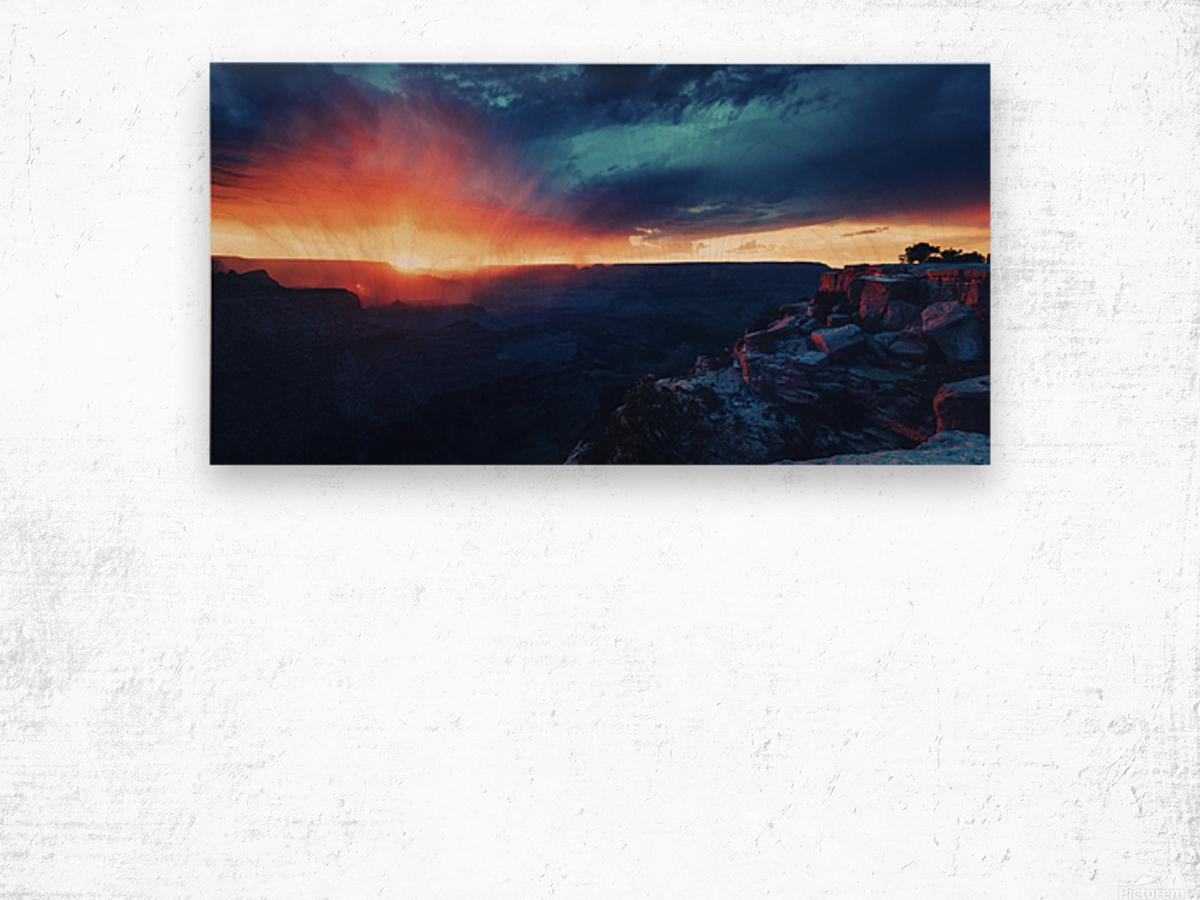 The Grandest Sunset Wood print