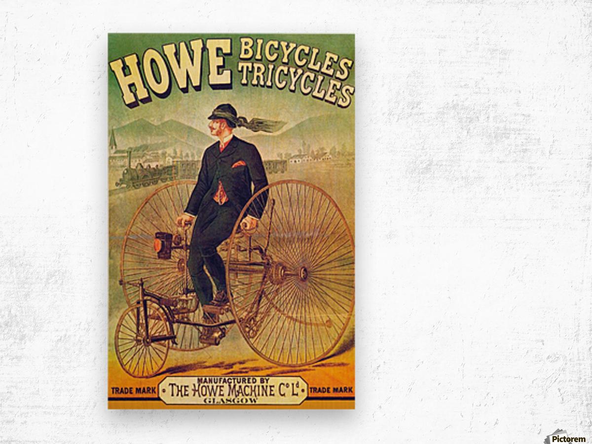 Howe Bicycles Wood print