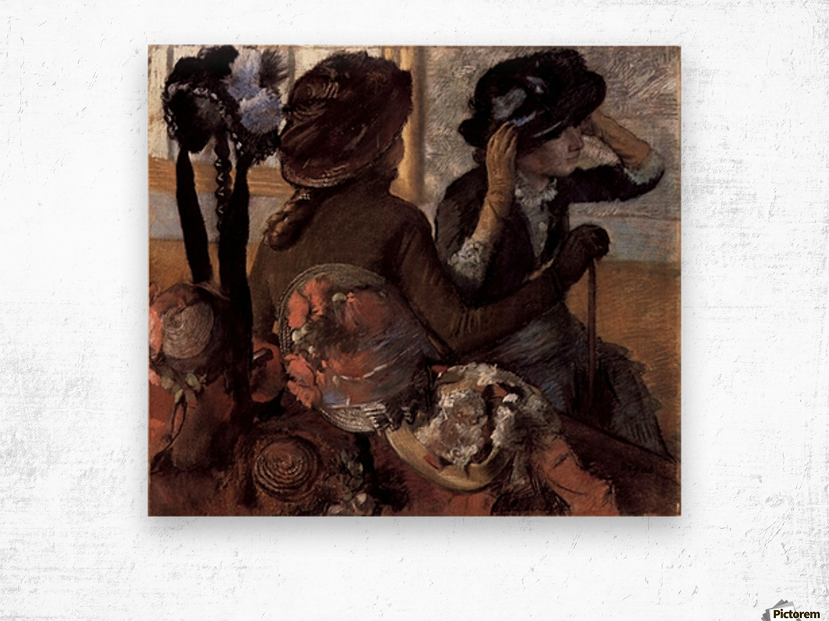 The milliner 1 by Degas Wood print