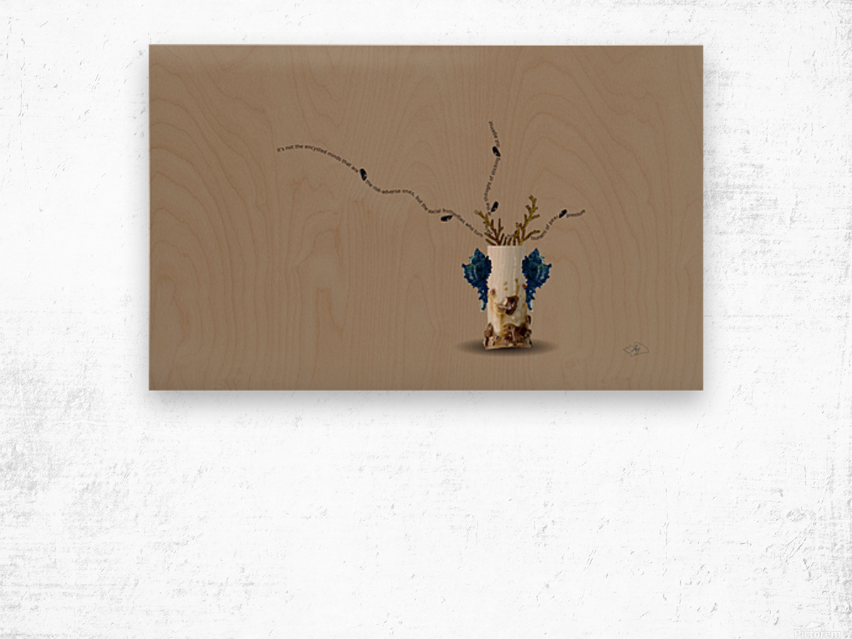 Encysted Wood print