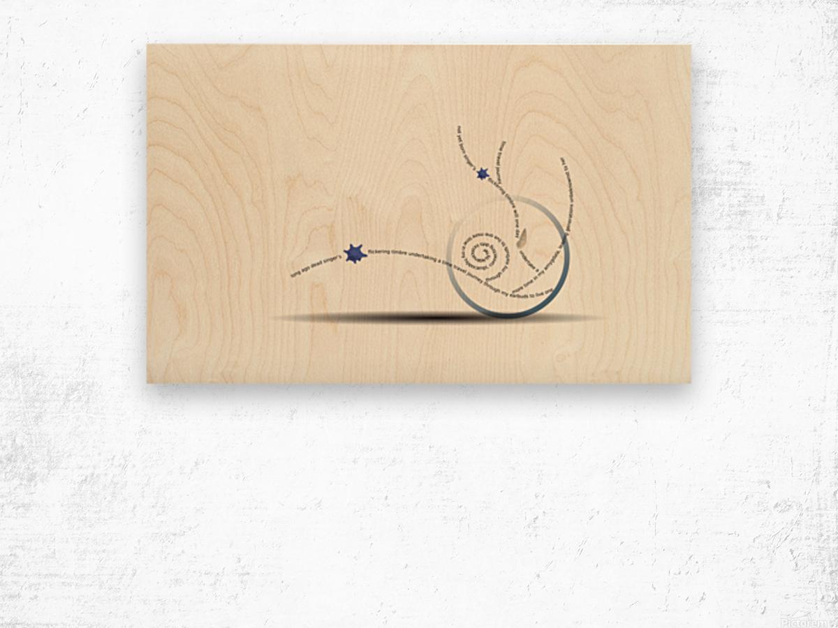 Time Travel Wood print