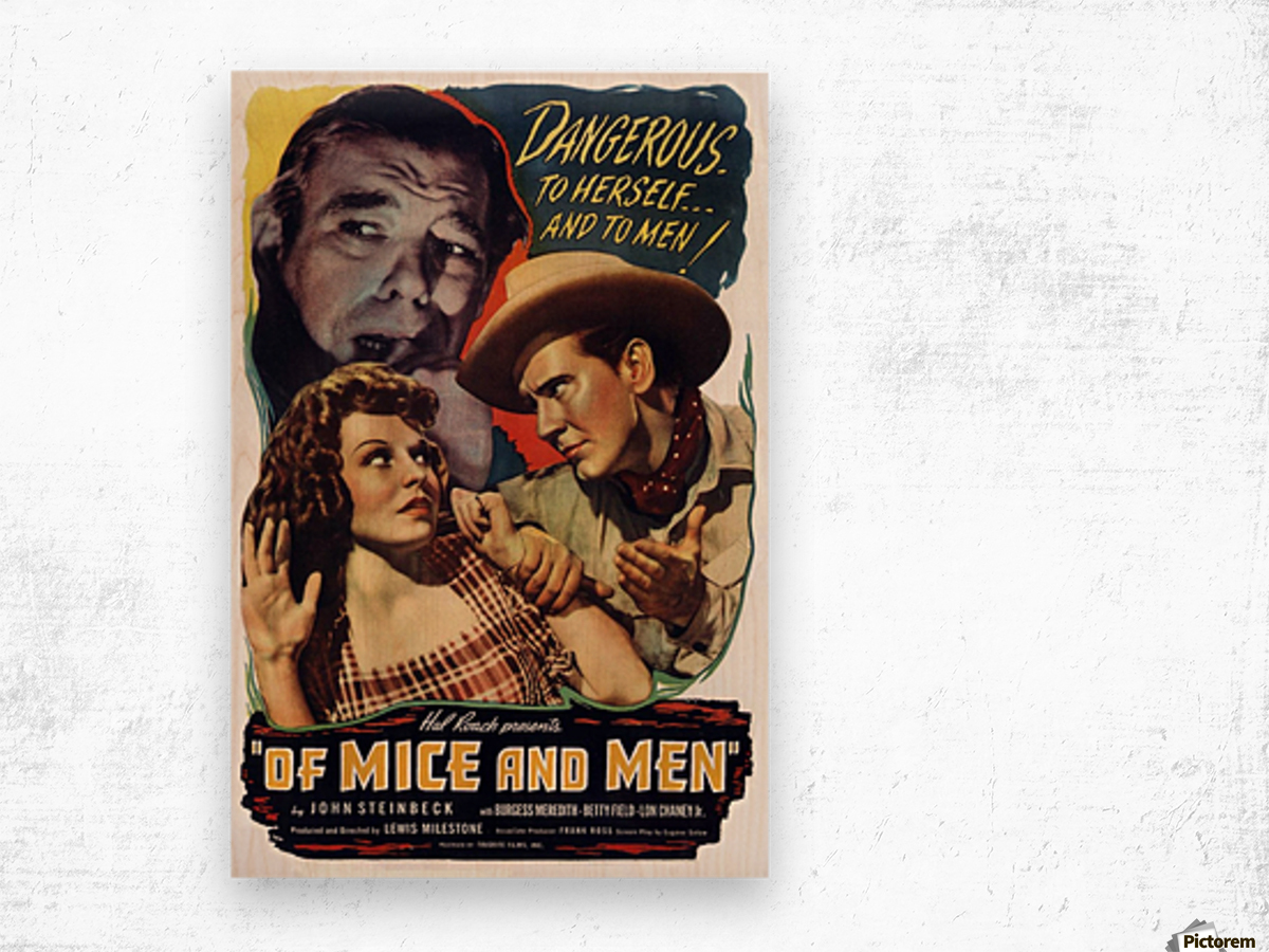 Of mice and men - VINTAGE POSTER Canvas