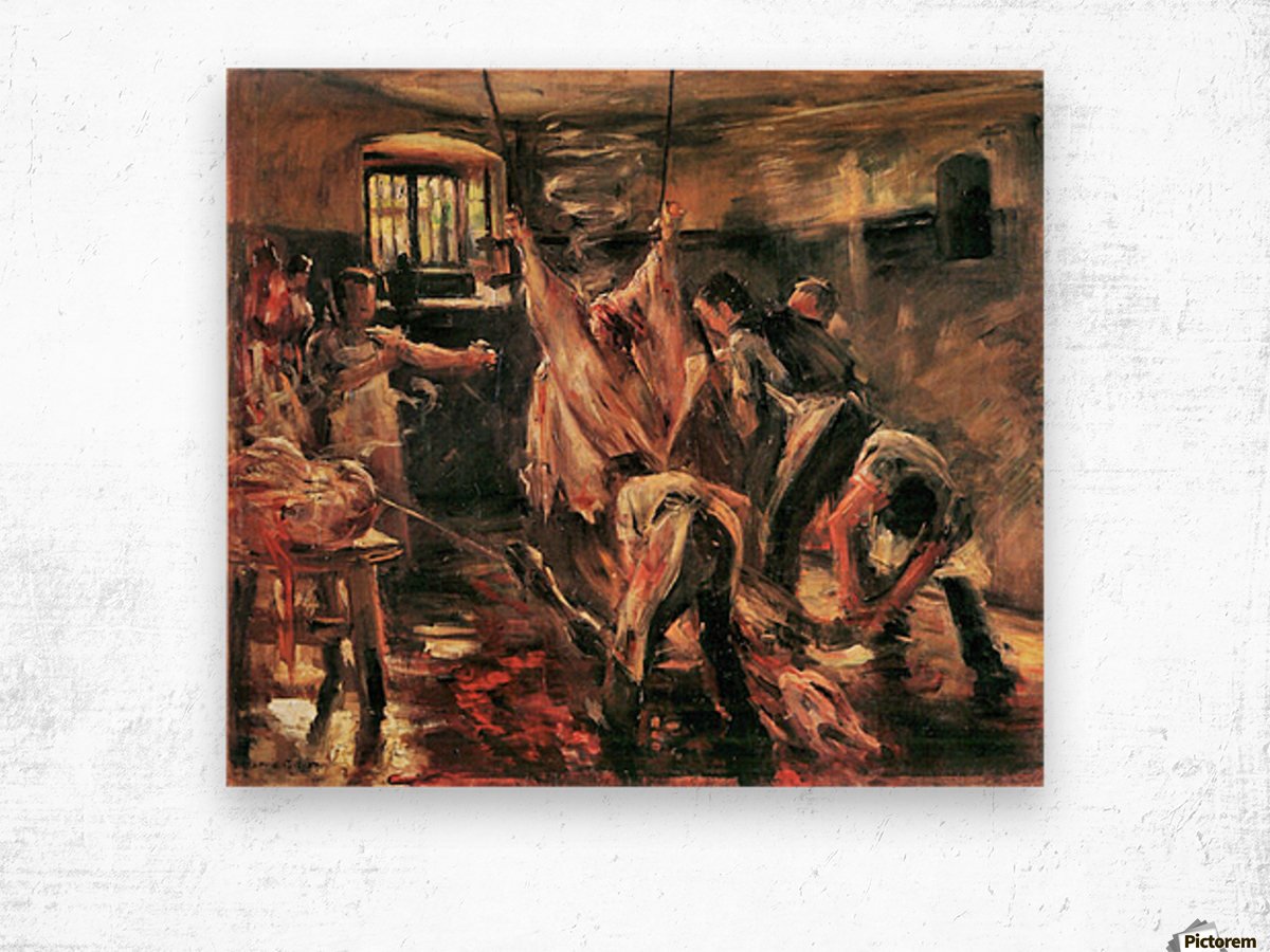 Slaughterhouse by Lovis Corinth Wood print