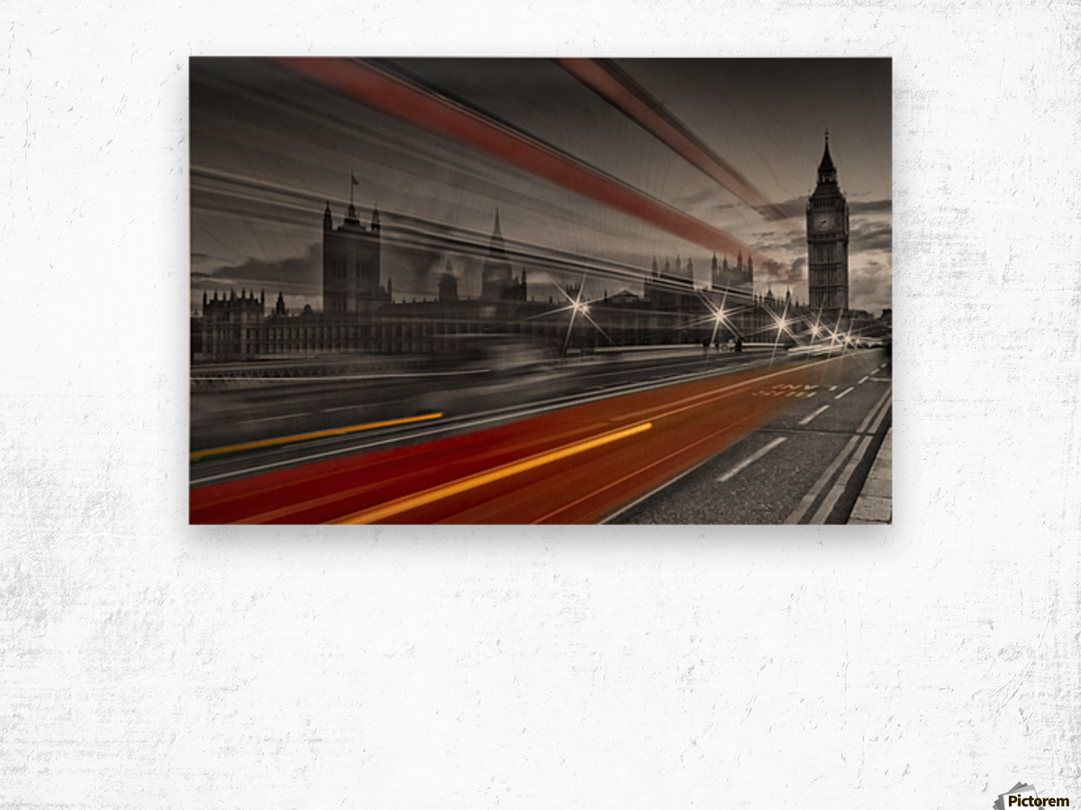 LONDON Red Bus Wood print