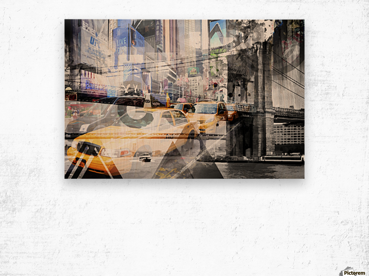 New York City Geometric Mix No. 9 Wood print