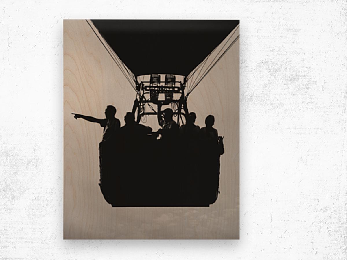 Basket Full Of Aeronauts Wood print
