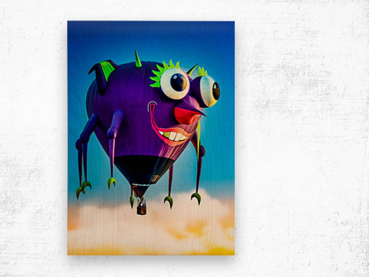 Flying Purple People Eater Wood print