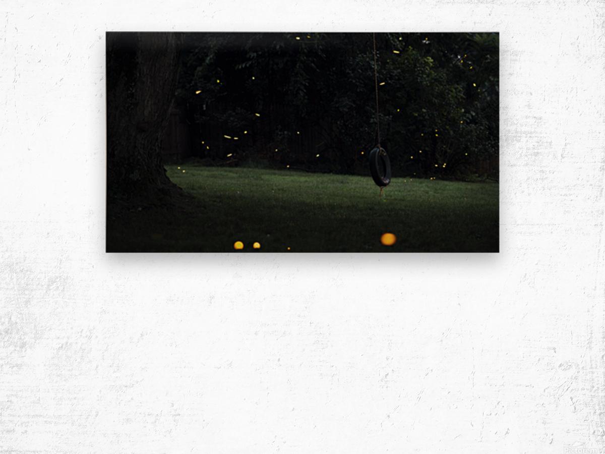 Fireflies in Pennsylvania Wood print