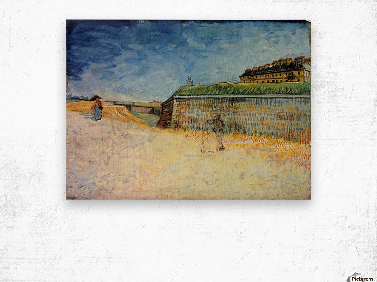 The Ramparts of Paris2 by Van Gogh Wood print