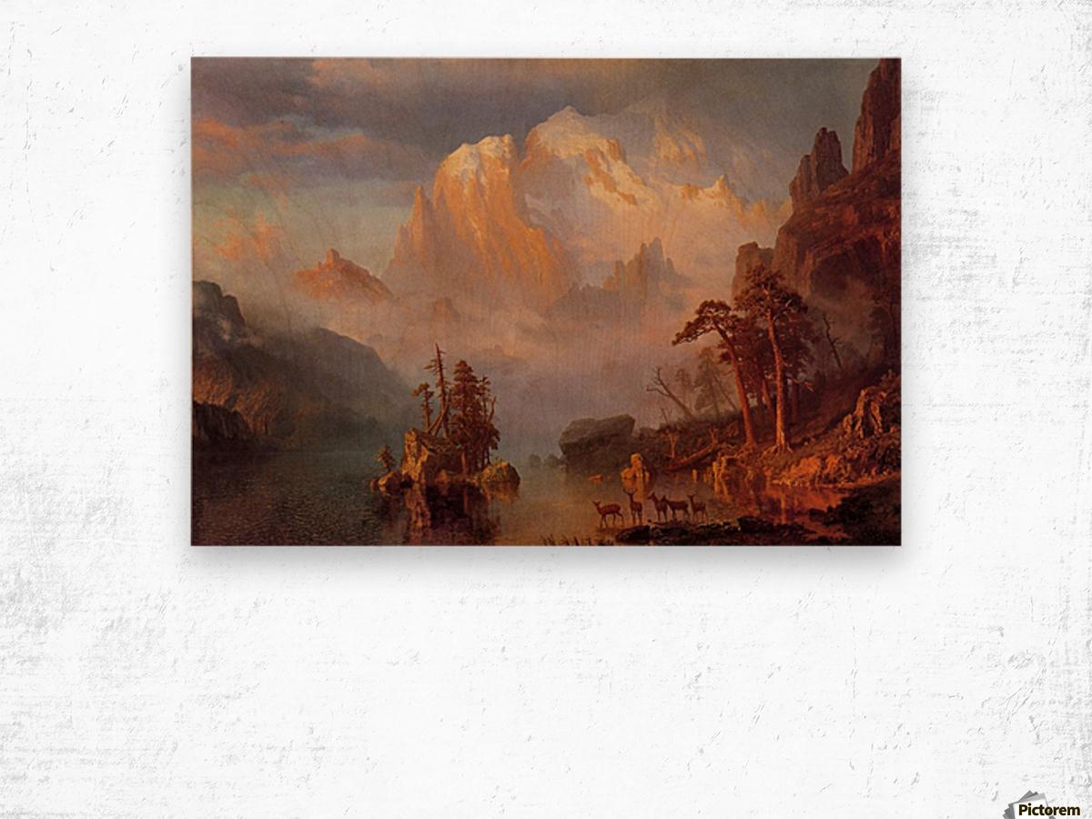 Rocky Mountains, 1866 Wood print