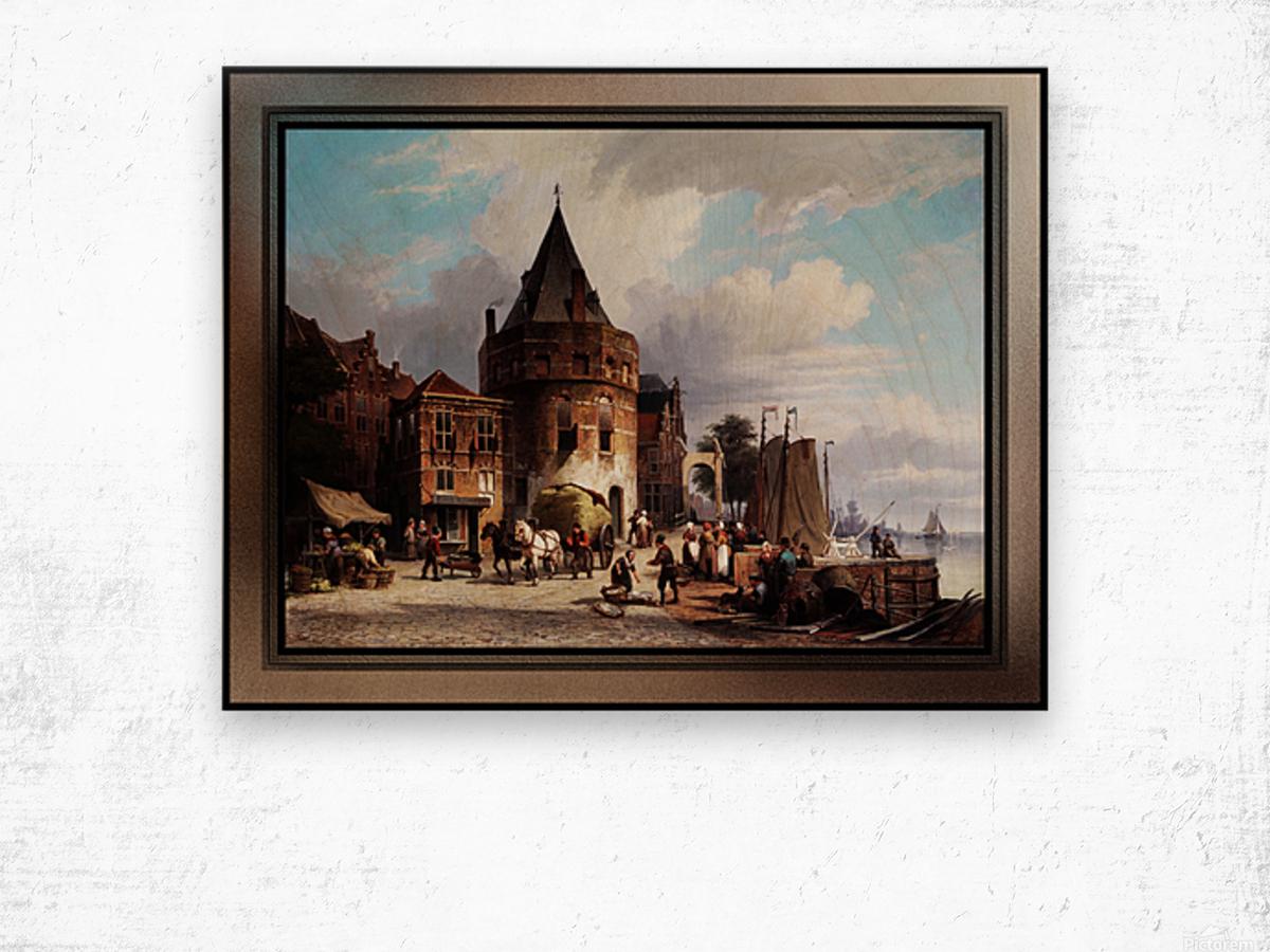 Schreierstoren by Willem Koekkoek Fine Art Old Masters Reproduction Wood print