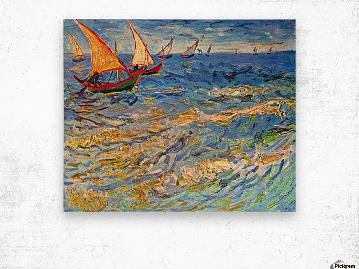 The sea at Saintes-Maries by Van Gogh Wood print