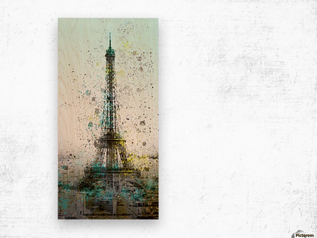 City-Art PARIS Eiffel Tower II Wood print