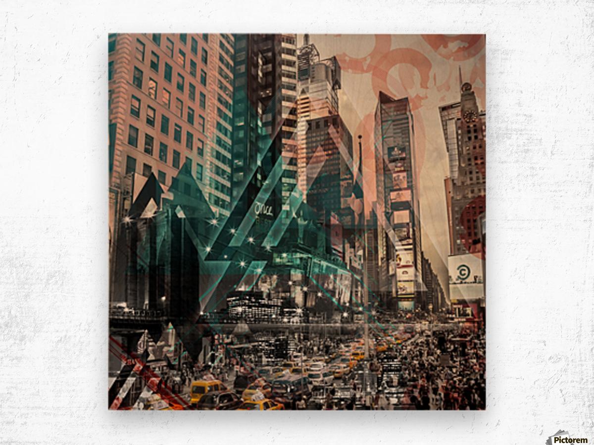 New York City Geometric Mix No. 4 Wood print