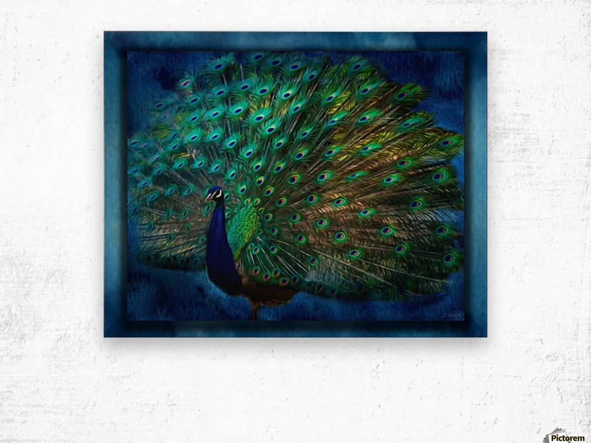 Being Yourself - Peacock Art by Jordan Blackstone Wood print