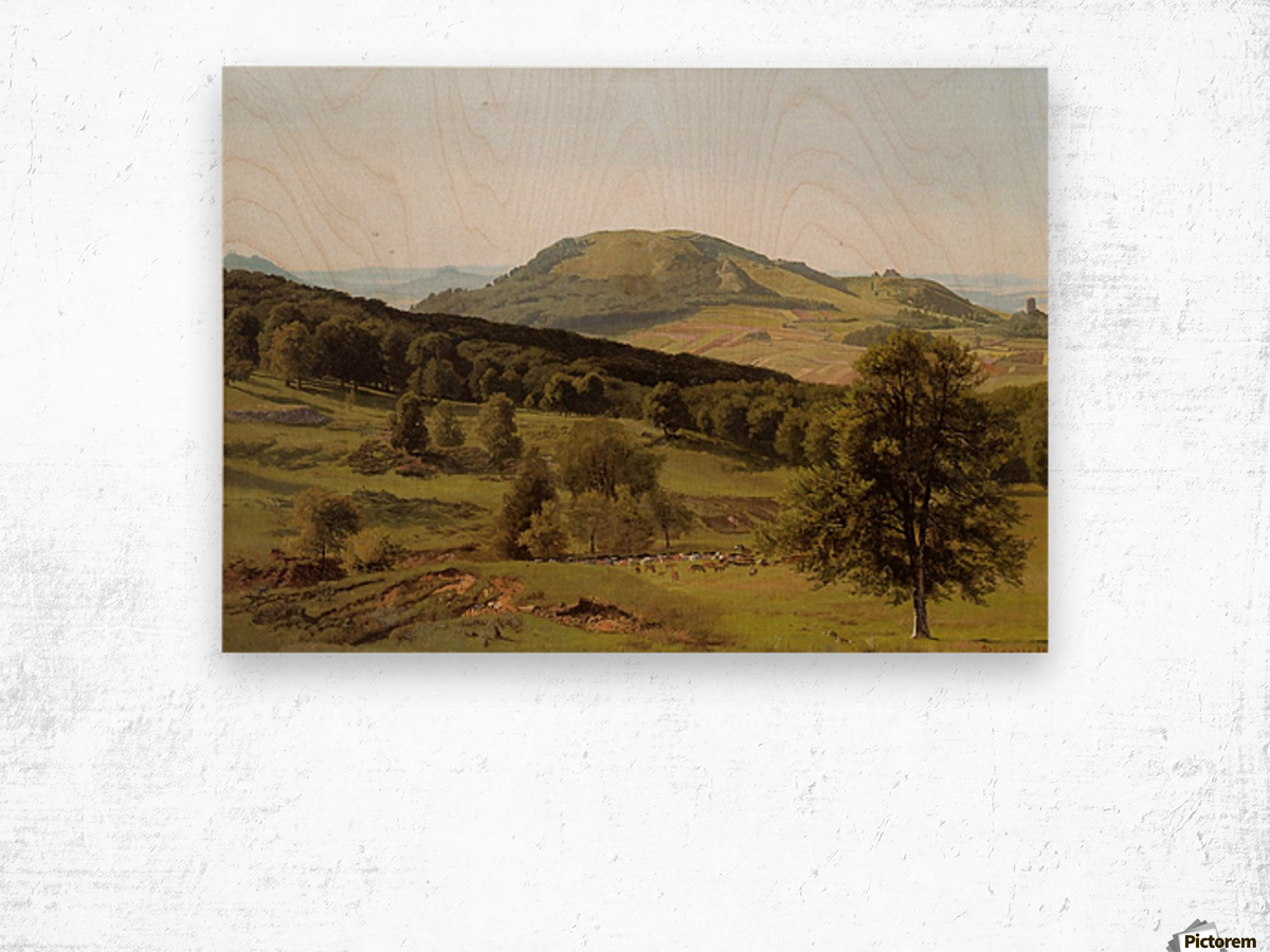 Landscape Hill and Dale Wood print