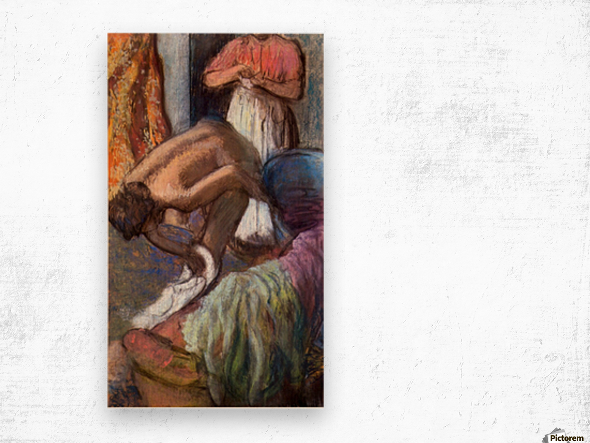 The strengthening after the bathwater by Degas Wood print