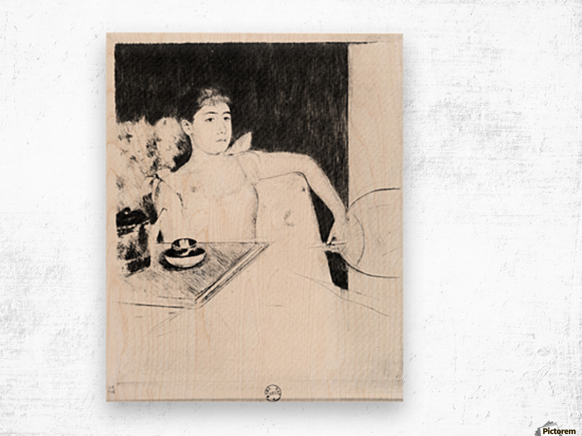 The Tea by Cassatt Wood print