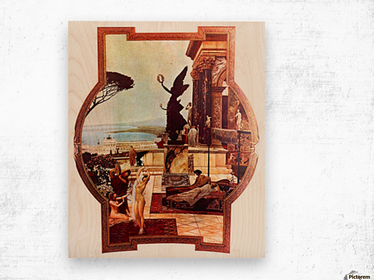 The Theatre of Taormina by Klimt Wood print
