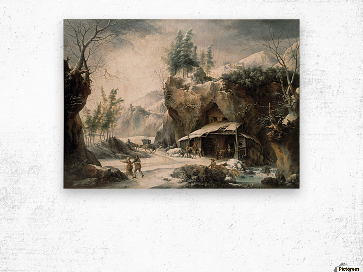The Caleche in Front of the Shepherd Hut Wood print