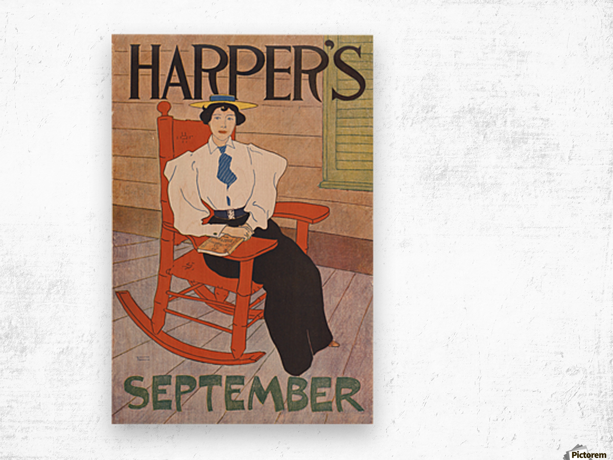 Harpers September Wood print
