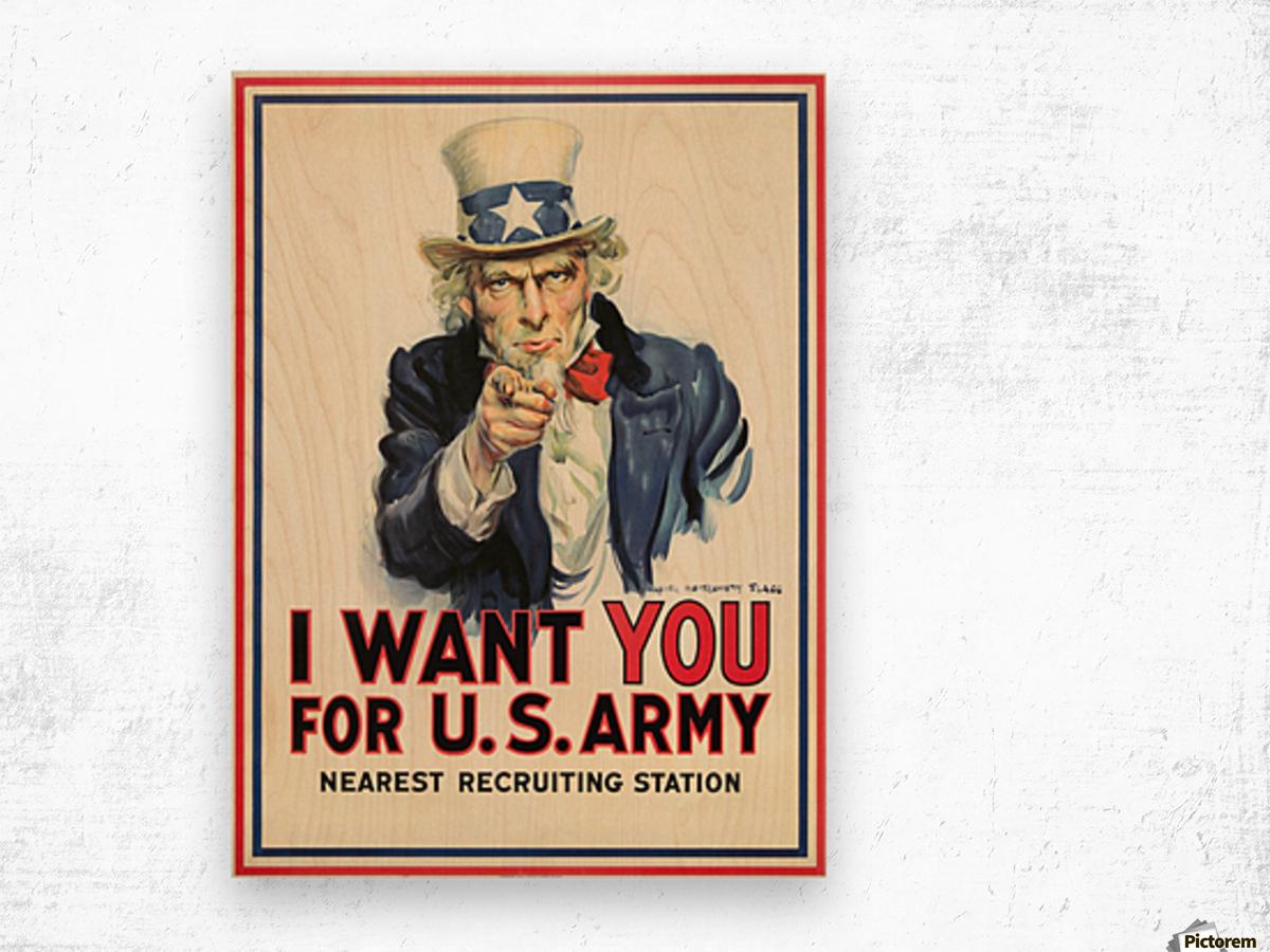 I Want You, 1917 Wood print