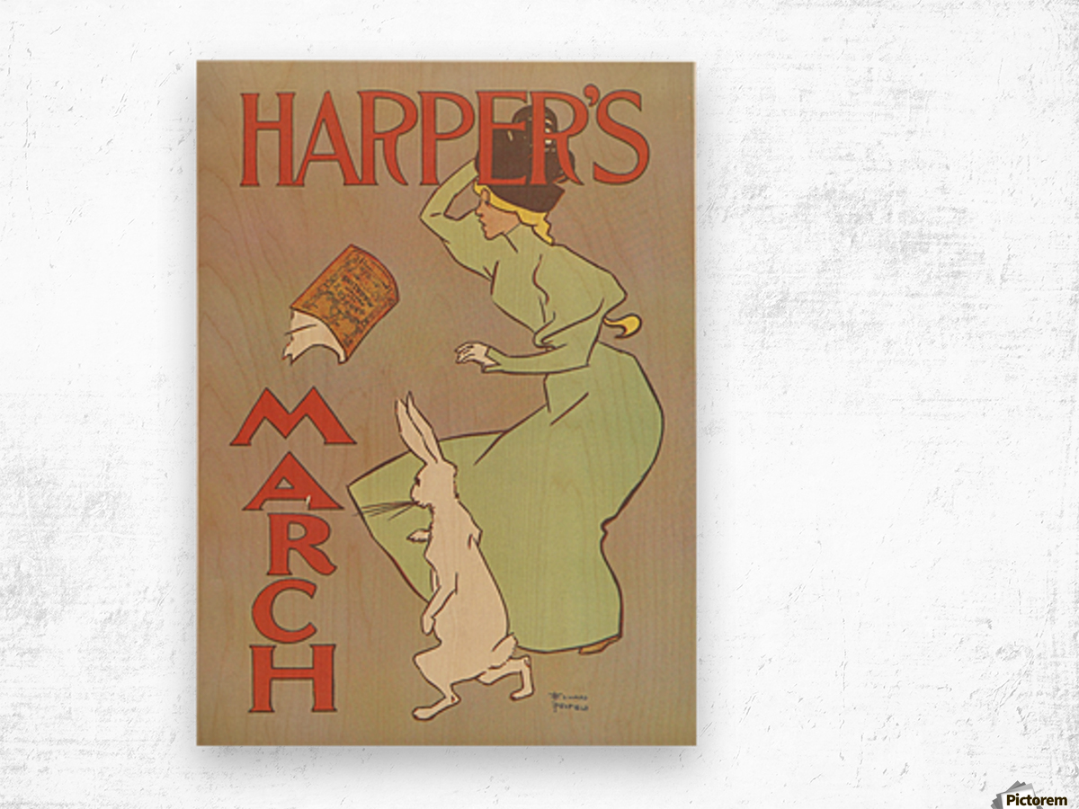 Harpers March Edward Penfield Mini Poster Wood print