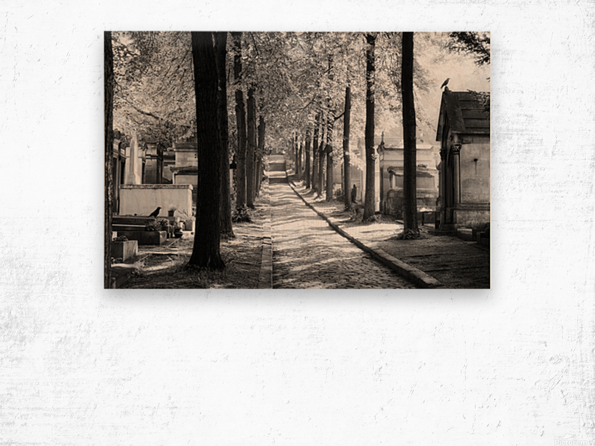 Pere-Lachaise keepers Impression sur bois