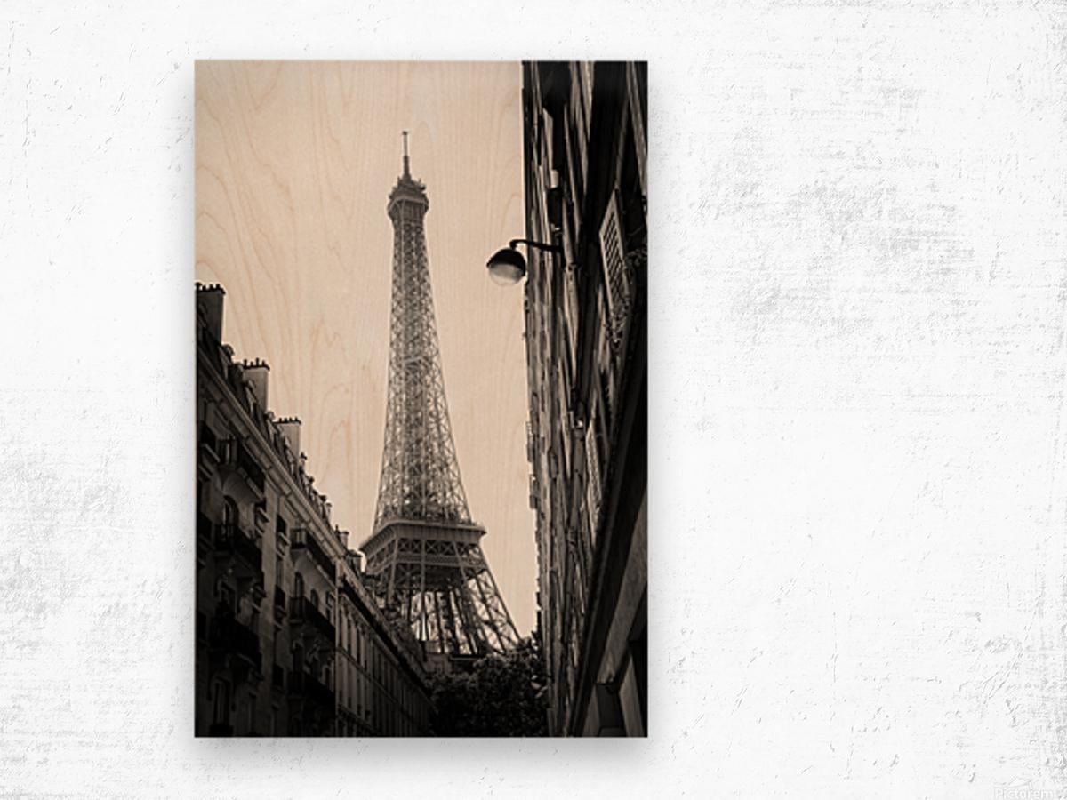 Under the Eiffel tower  Impression sur bois