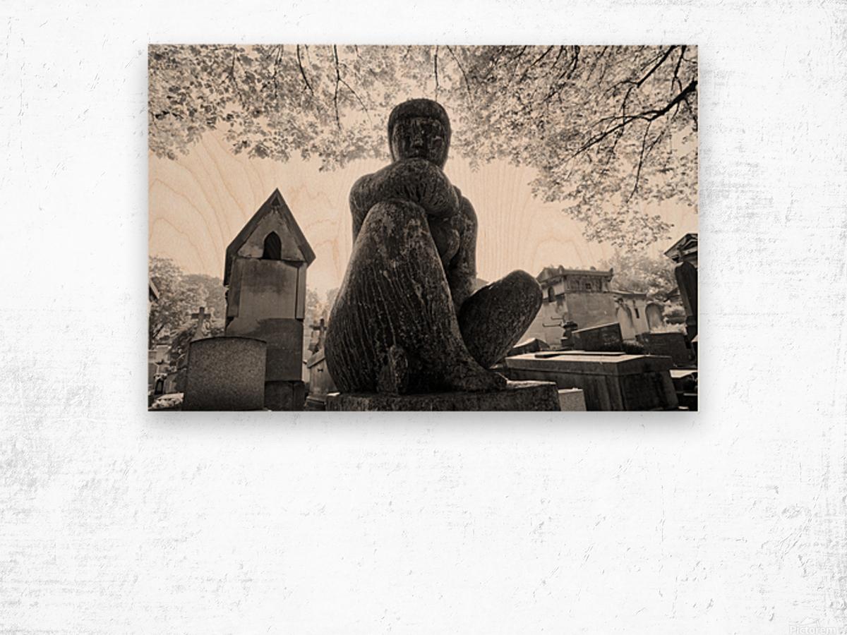 Pere-Lachaise statue Impression sur bois