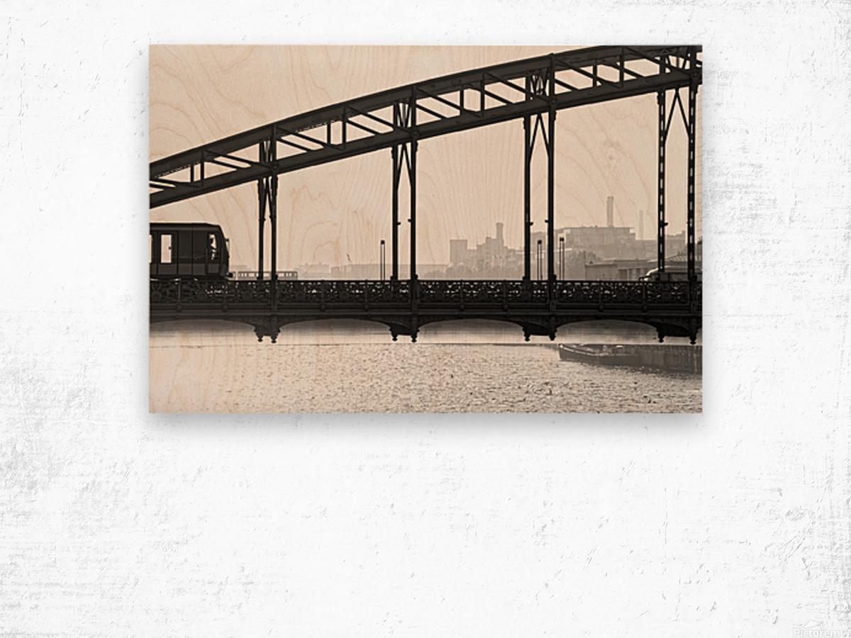 Austerlitz viaduct Impression sur bois
