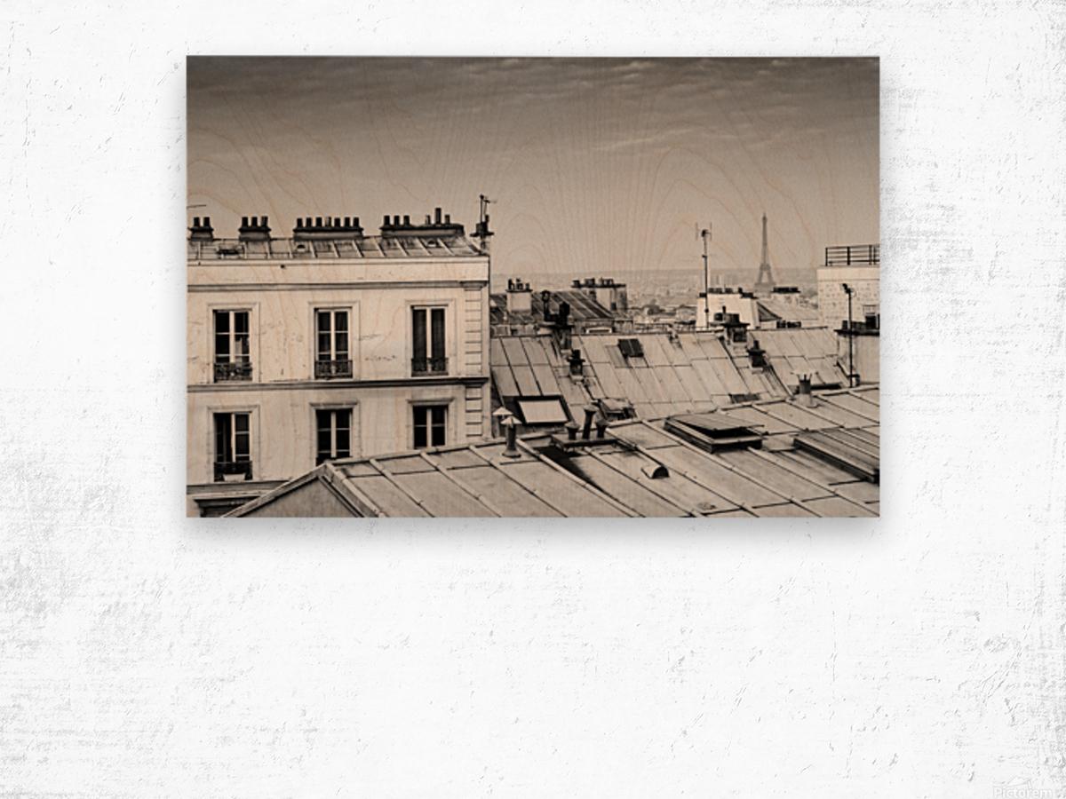 Roofs of Paris  Impression sur bois