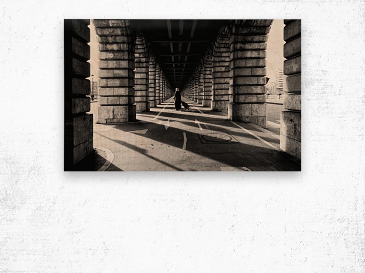Bercy bridge Impression sur bois